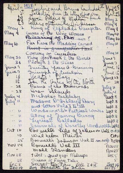 Irene Wissotzky 1938 card