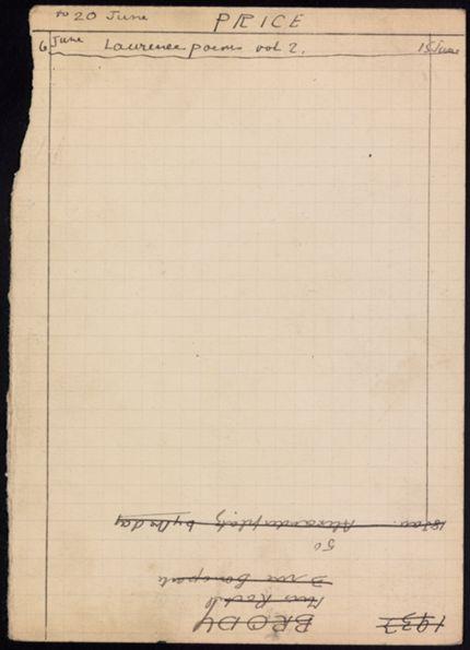 Phyllis Price 1933 card