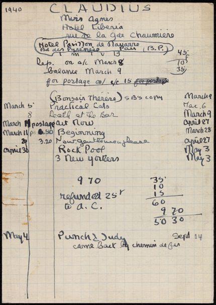 Agnes Claudius 1940 card