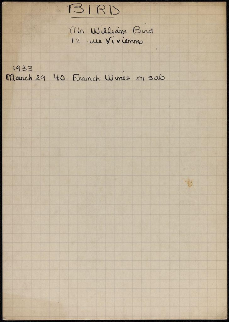William Bird 1933 card (large view)