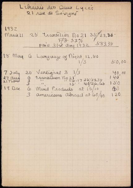 Librairie des deux Lycée 1932 card