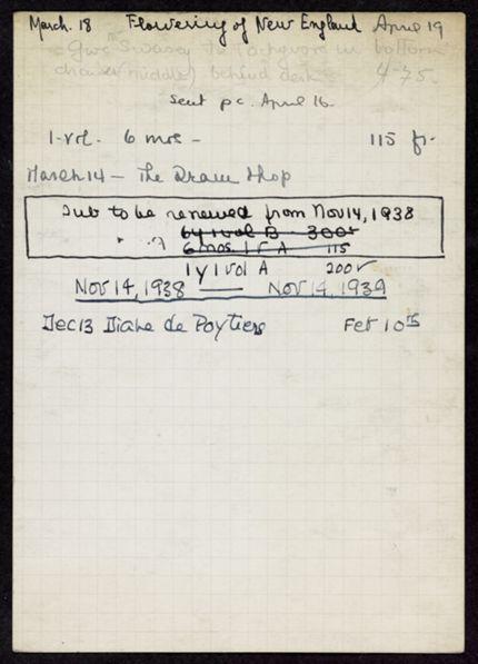 Horatio Robert Swasey 1937 – 1939 card