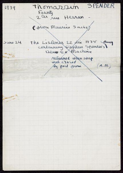 Franz Thomassin 1939 card