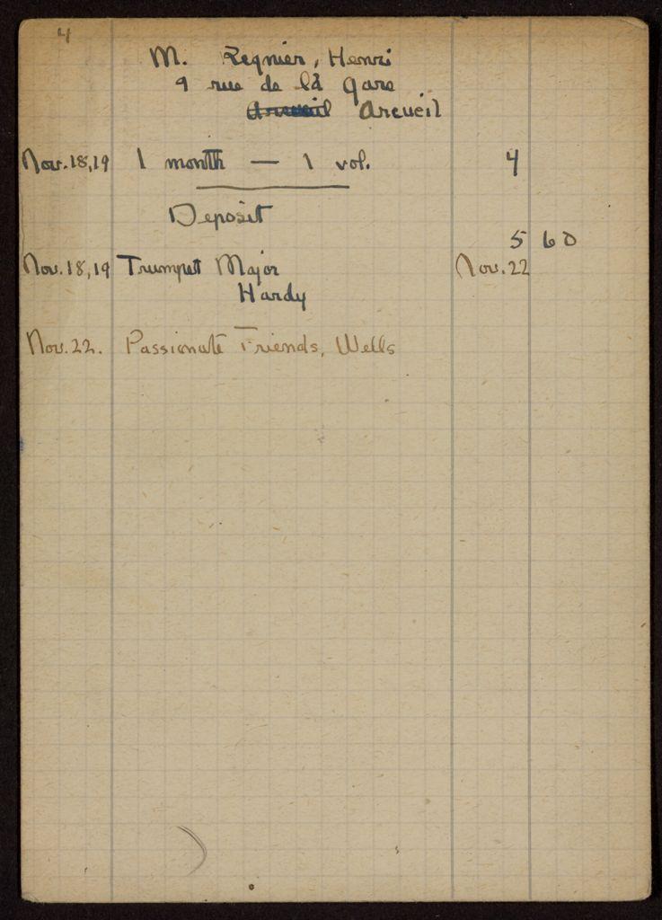 Henri Regnier 1919 card (large view)