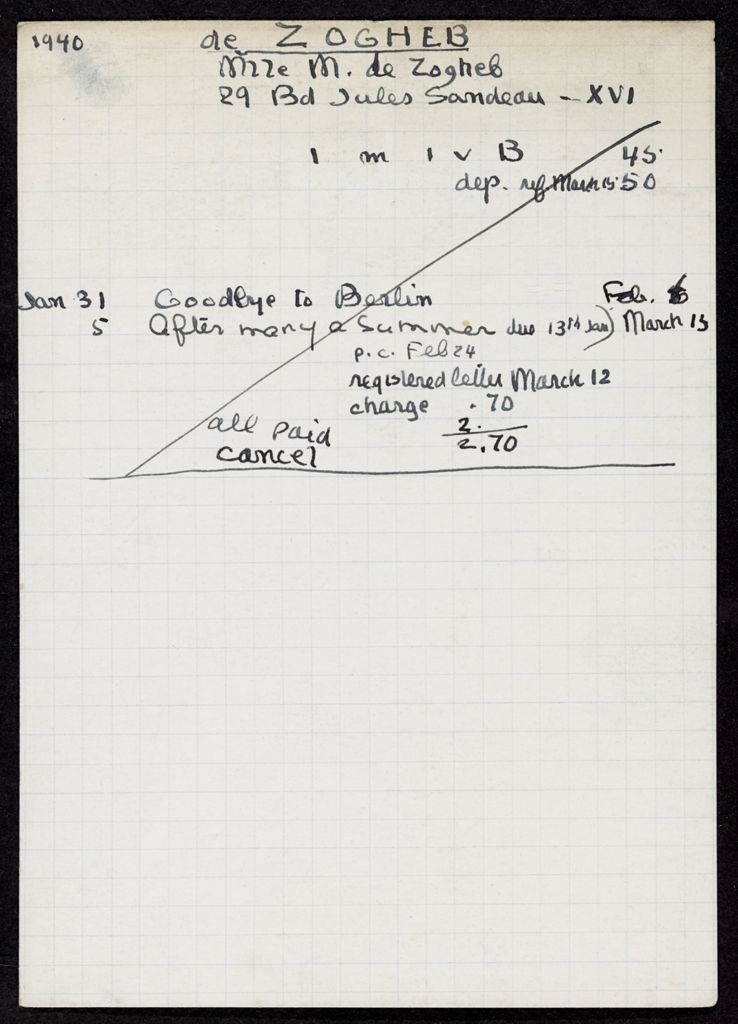 M. de Zogheb 1940 card (large view)
