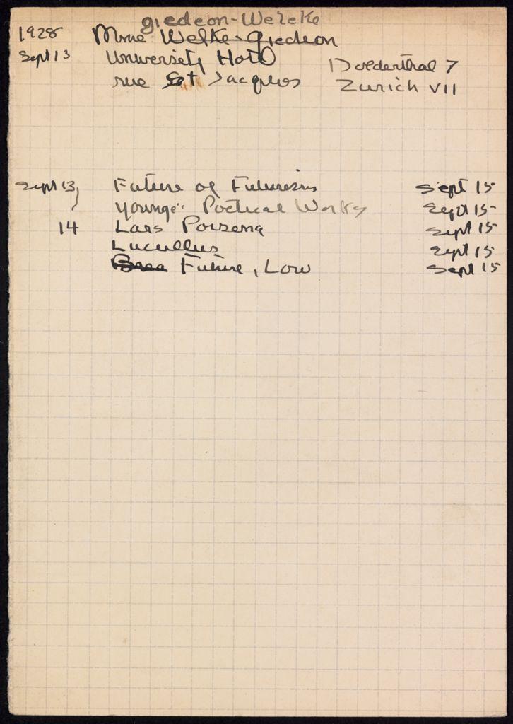 Carola Giedion-Welcker 1928 card (large view)