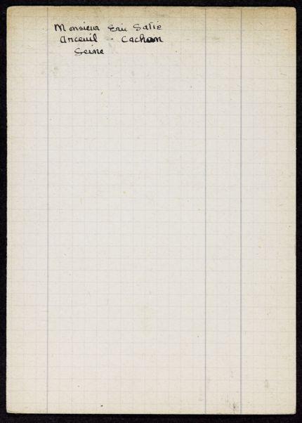 Erik Satie Blank card