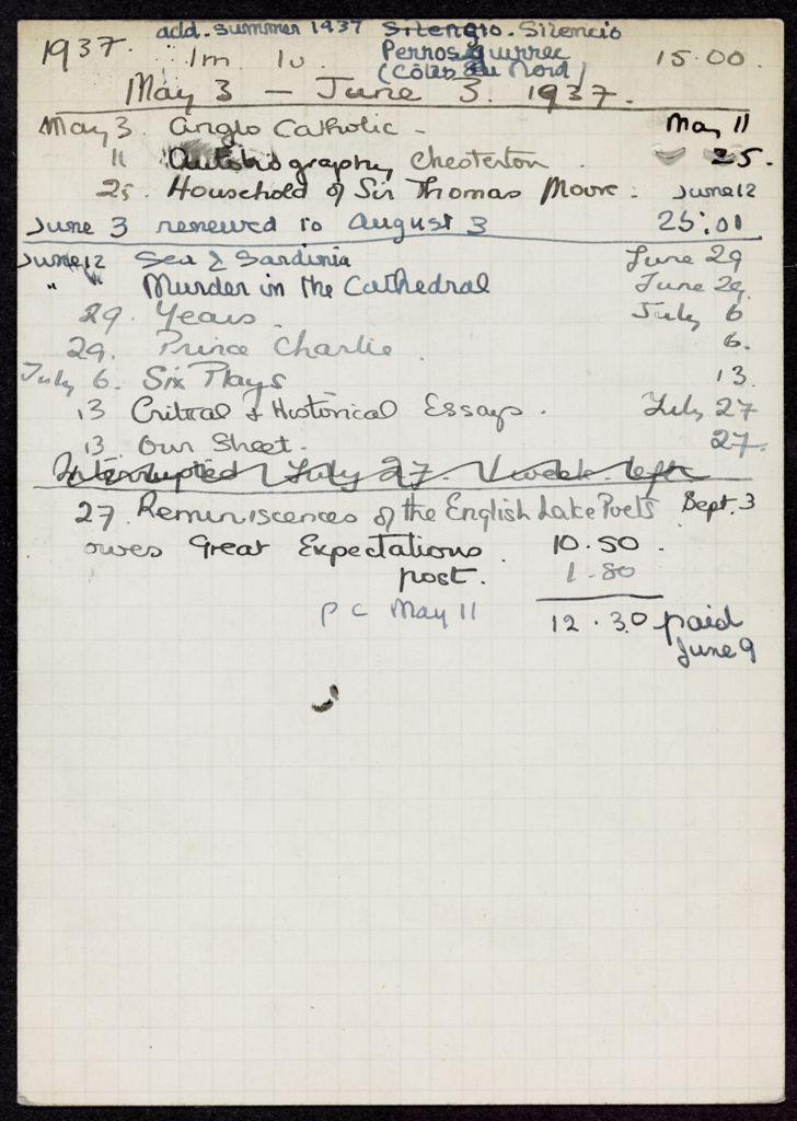 Elisabeth Denis-Graterolle 1937 card (large view)