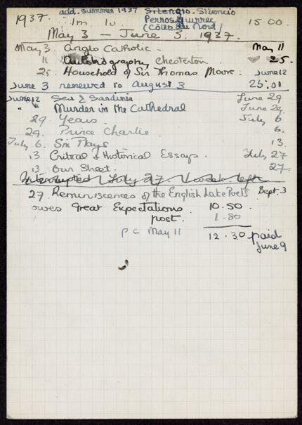Elisabeth Denis-Graterolle 1937 card