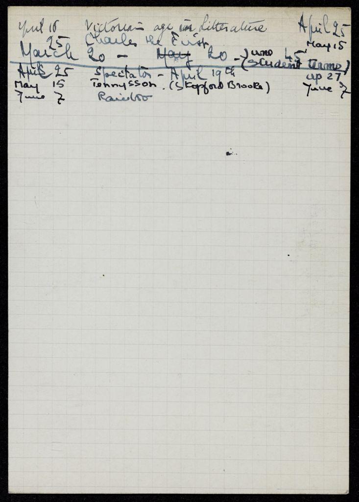 H. S. Vandel 1940 card (large view)