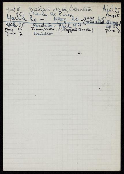 H. S. Vandel 1940 card