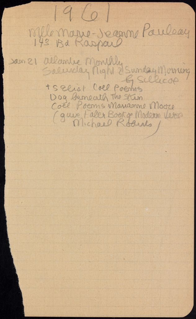 Marie-Jeanne Pauleau Blank card (large view)
