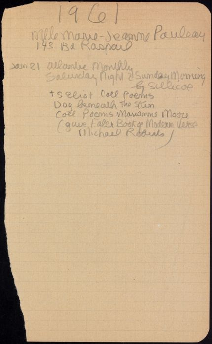 Marie-Jeanne Pauleau Blank card