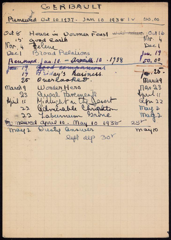 Paul Gerbault 1937 – 1938 card (large view)