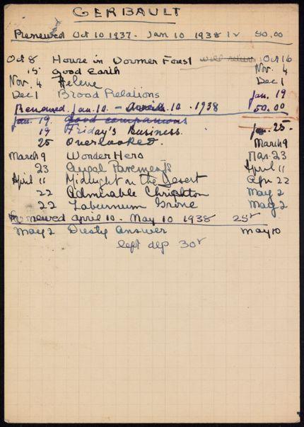 Paul Gerbault 1937 – 1938 card
