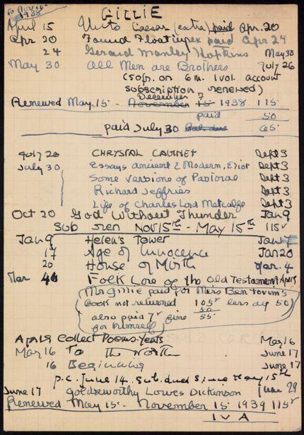 Darsie Rutherford Gillie 1938 – 1939 card
