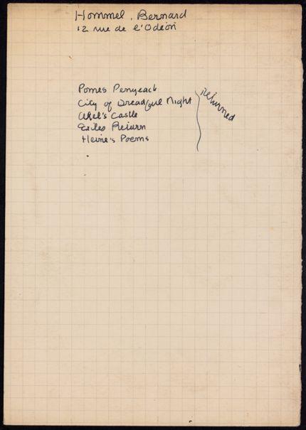 Bernard Hommel Unknown card