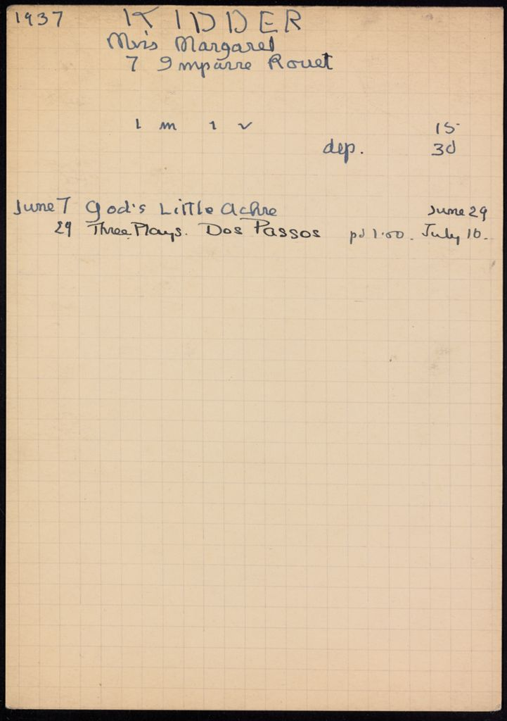 Margaret Kidder 1937 card (large view)