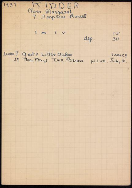 Margaret Kidder 1937 card