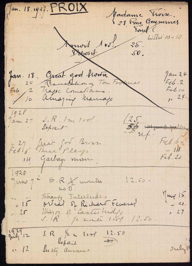 Troise Proix 1927 – 1929 card (large view)