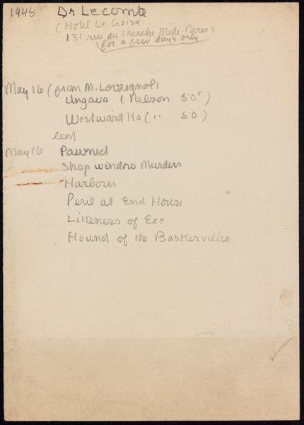 Dr. Lecomte Blank card