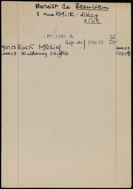 Étienne Benoist de Beaulieu 1939 card