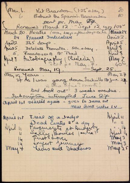 Eda Lord 1937 – 1938 card