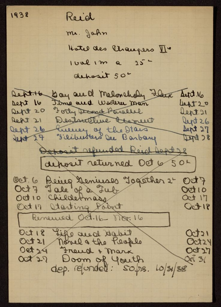 John Reid 1938 card (large view)