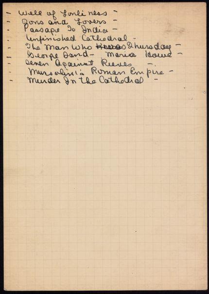 Eleanor Oldenburger Unknown card