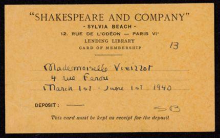 Marie-Thérèse Vieillot Blank card