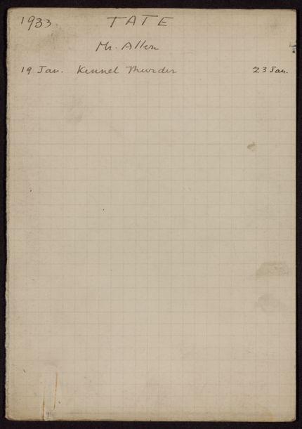 Allen Tate 1933 card