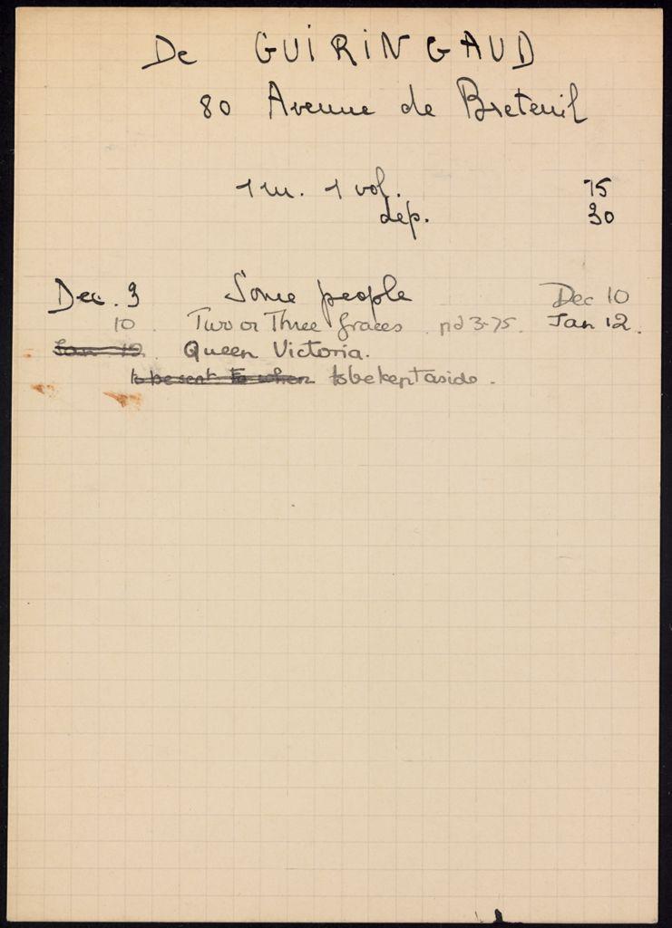 de Guiringaud 1936 – 1937 card (large view)