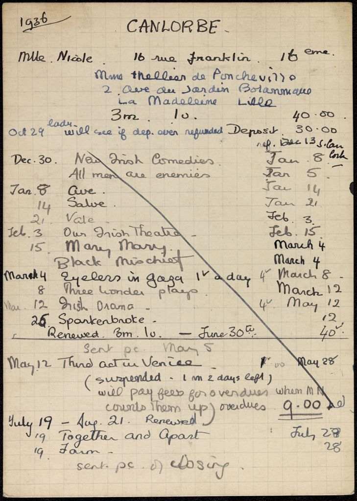 Nicole Thellier de Poncheville 1936 – 1937 card (large view)