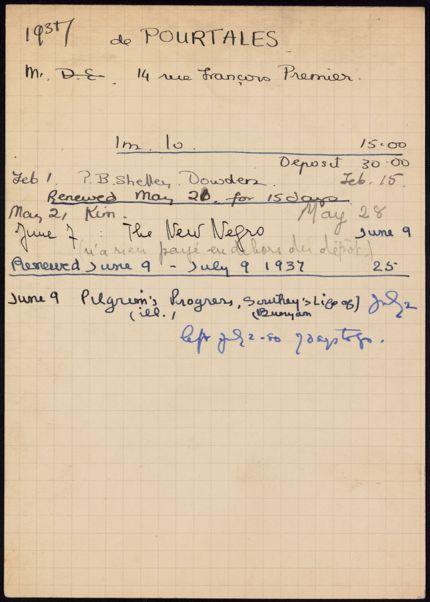 Guy de Pourtales 1937 card