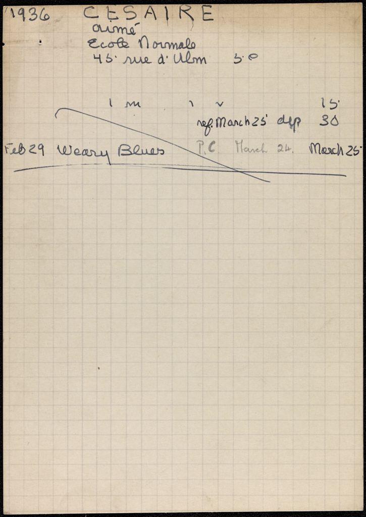 Aimé Césaire 1936 card (large view)